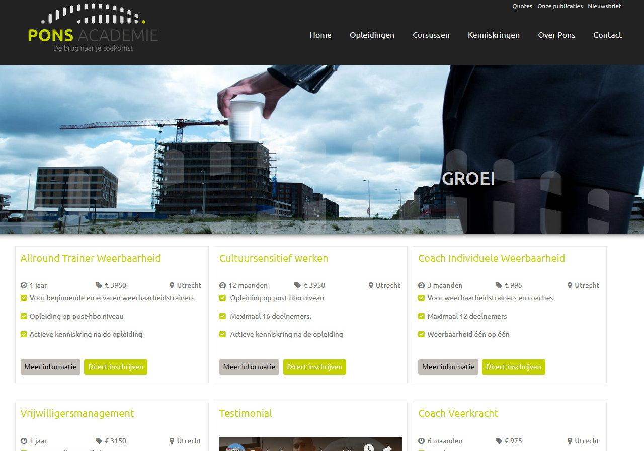 website Ponsacademie